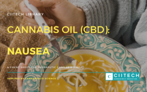 Cannabis Cheatsheet Nausea CBD Cannabis Oil UK